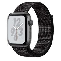Apple Watch Nike + Series 4 ( GPS ) Gray - 44mm Black Nike Sports Loop