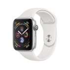 Apple Watch Series 4 ( GPS ) White - 44mm Silver Aluminum