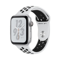 Apple Watch Nike + Series 4 ( GPS ) Silver - 44mm Platinum/Black Nike Sports Loop