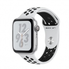 Apple Watch Nike + Series 4 ( GPS ) Silver - 44mm Platinum/Black Nike Sports Loop