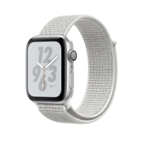 Apple Watch Nike+, Series 4 GPS, 44mm Silver Aluminium Case with Summit White Nike Loop