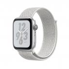 Apple Watch Nike+, Series 4 GPS, 44mm Silver Aluminium Case with Summit White Nike Loop