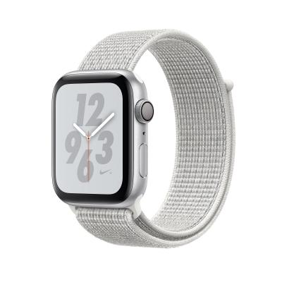 Apple Watch Nike+ Series 4 GPS, 44mm Silver Aluminum Case with Summit White Nike Loop