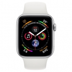 Apple Watch Series 4 40mm Silver Aluminum White Sport Band (GPS)