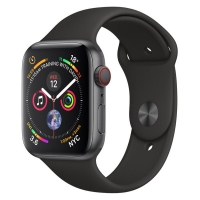 Apple Watch Series 4 40mm Space Gray Aluminum Black Sport Band (GPS)